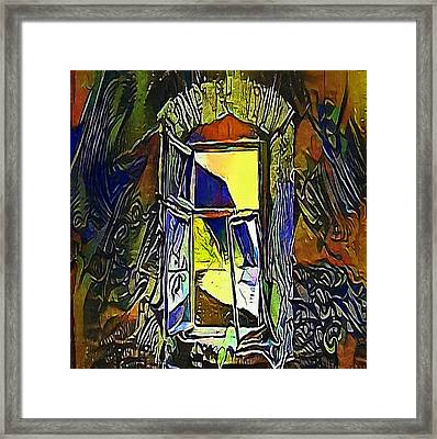 blue window - My WWW vikinek-art.com Framed Print by Viktor Lebeda
