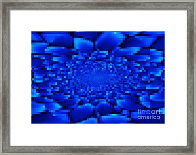 Blue Windows Abstract Framed Print by Carol Groenen