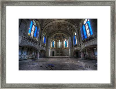 Blue Windows Framed Print by Nathan Wright