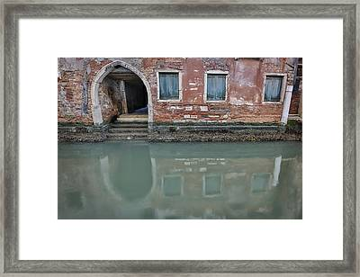 Framed Print featuring the photograph Blue Windows by Sharon Jones
