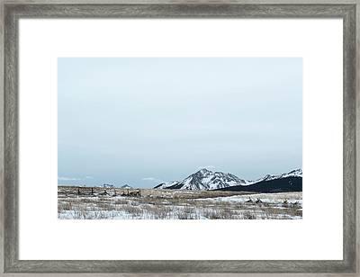 Blue Winter Framed Print
