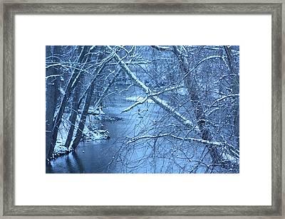 Blue Winter Framed Print by Bruce McEntyre