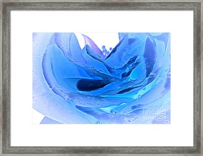Blue Winter Framed Print by Krissy Katsimbras