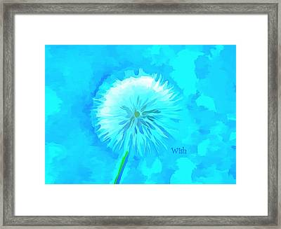 Blue Wishes Framed Print