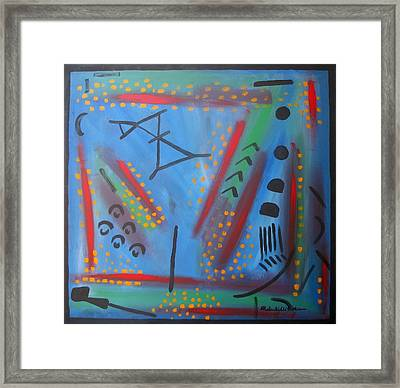 Blue With Verve Framed Print by Alfonso Robustelli