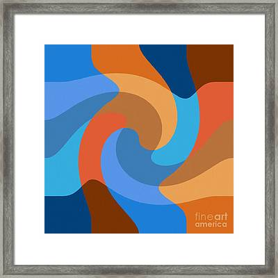 Blue Within Blue Framed Print