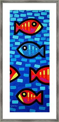 Blue Without You II Framed Print by John  Nolan