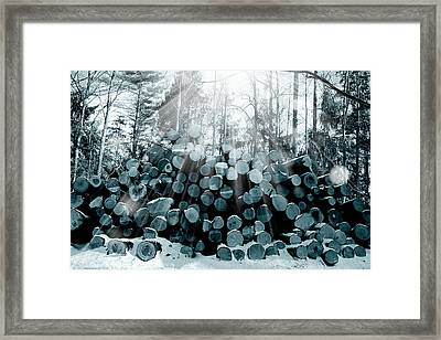 Blue  Wood Framed Print by Mark Ashkenazi