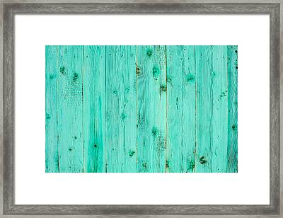 Framed Print featuring the photograph Blue Wooden Planks by John Williams