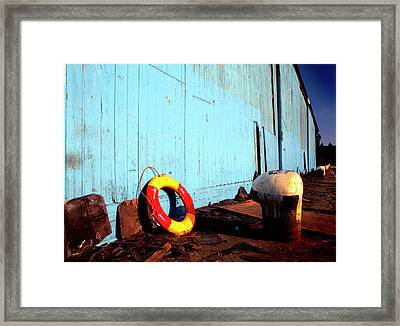 Blue Yellow And Red Framed Print