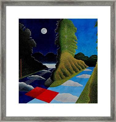Blue Yonder Framed Print by Adrian Jones