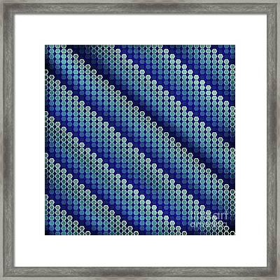 Blue Zag Framed Print
