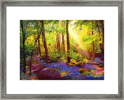 Bluebell Blessing Framed Print by Jane Small