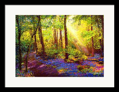 Bluebonnet Landscape Framed Prints