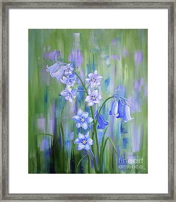 Bluebell Haze Framed Print