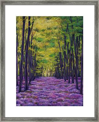 Bluebell Vista Framed Print