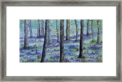 Bluebell Wood Framed Print
