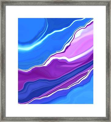Bluebells Abstract2 Framed Print by Linnea Tober