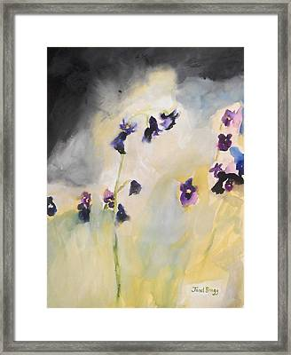 Bluebells And Pansies Framed Print