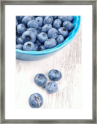 Blueberries Framed Print by Andreas Berheide