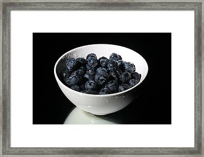 Blueberries Framed Print by Michael Ledray