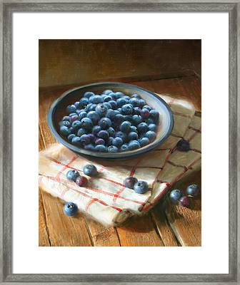 Blueberries Framed Print by Robert Papp