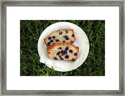 Blueberry Bread Framed Print by Linda Woods