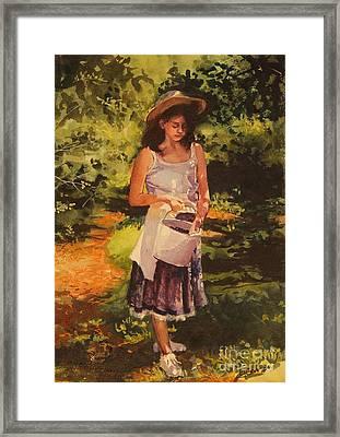Blueberry Girl Framed Print