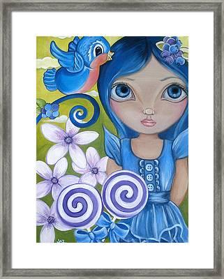 Blueberry Framed Print by Jaz Higgins