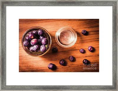 Blueberry Kitchen Still Life Framed Print by Jorgo Photography - Wall Art Gallery