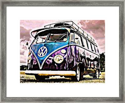 Blueberry Smoke Framed Print by S Poulton