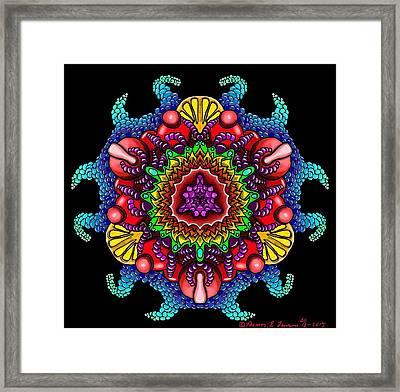 Blueberryflower Framed Print