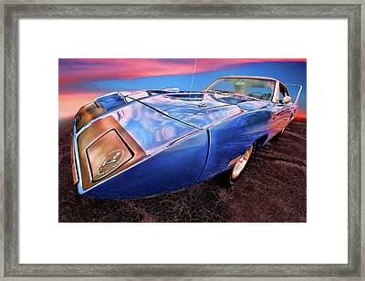 Bluebird - 1970 Plymouth Road Runner Superbird Framed Print by Gordon Dean II