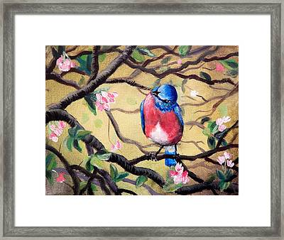 Bluebird By Gretchen Smith Framed Print by Gretchen  Smith
