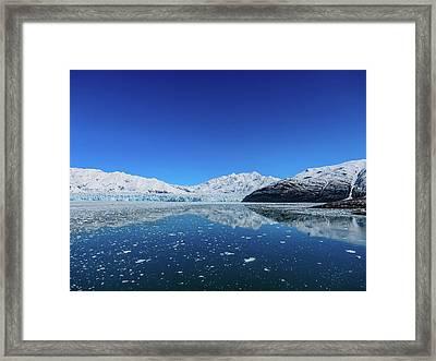 Bluebird Day At Hubbard Glacier Framed Print