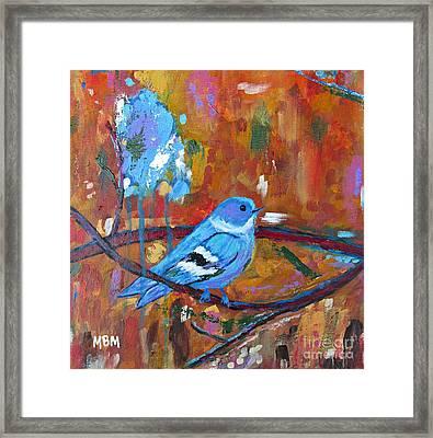 Bluebird In Autumn Framed Print
