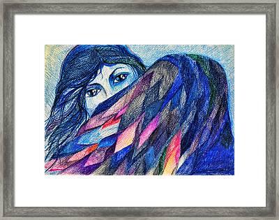 Bluebird Of Happiness. Framed Print by Anastasia Michaels