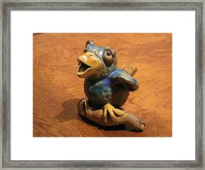 Bluebird Of Happiness Whistle Framed Print by Chere Force