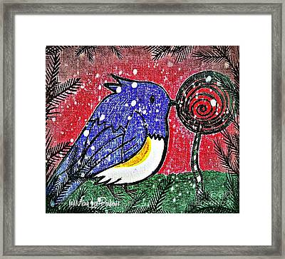Bluebird Of The Season Framed Print