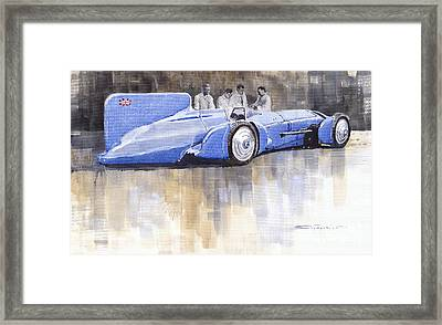 Bluebird World Land Speed Record Car 1931 Framed Print by Yuriy  Shevchuk