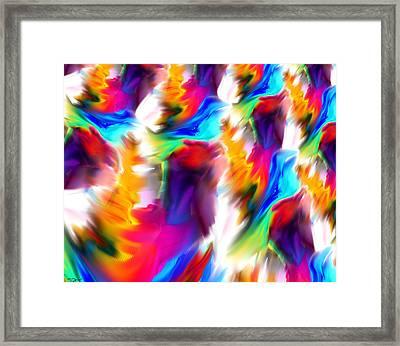 Bluebirds In Flight Framed Print by Abstract Angel Artist Stephen K