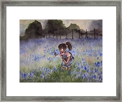 Bluebonnet Cutie Framed Print