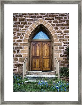 Bluebonnet Door Framed Print