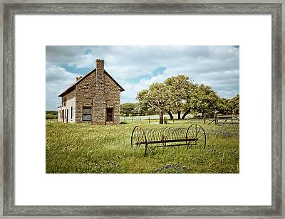 Framed Print featuring the photograph Bluebonnet Dreams by Linda Unger
