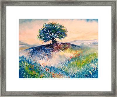 Bluebonnet Hill Framed Print by Marcia Baldwin