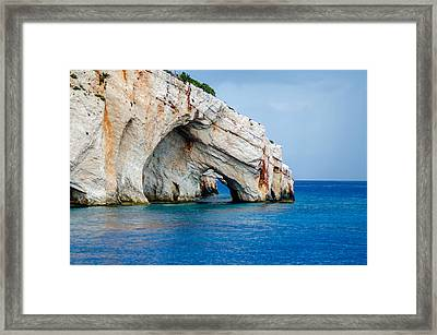 Bluecaves 3 Framed Print