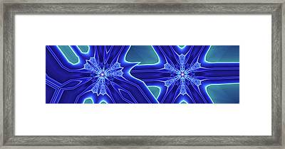 Framed Print featuring the digital art Blued by Ron Bissett