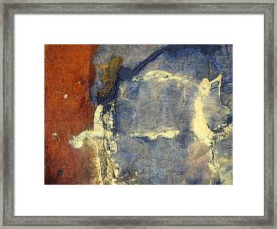 Bluegold 3 Framed Print by Gail Butters Cohen