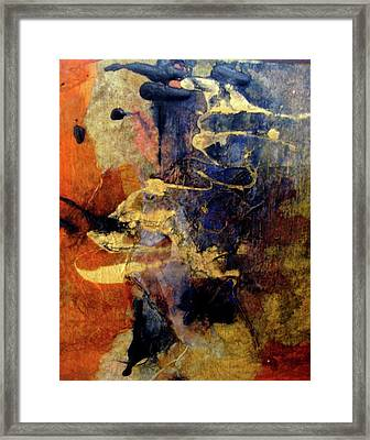 Bluegold 4 Framed Print by Gail Butters Cohen