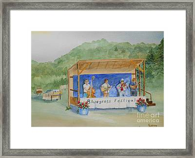 Bluegrass Festival Framed Print